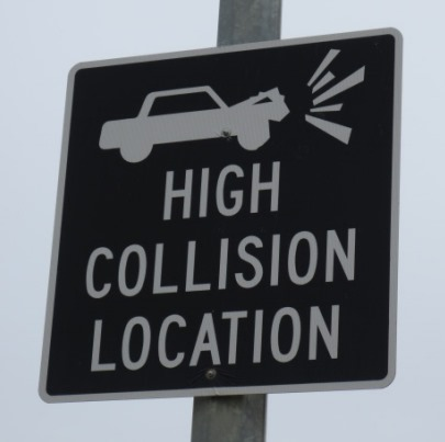 high collision sign