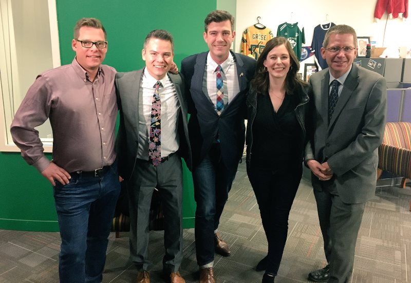 Iveson with the new councillors